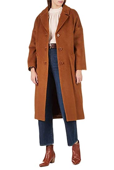 67f65a6898 Amazon.com  Tara Jarmon - Women s Oversized Coat - Noisette  Clothing