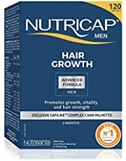 Nutricap for Men Hair Growth Advanced Formula, Promote Vitality and Strength, 120 capsules