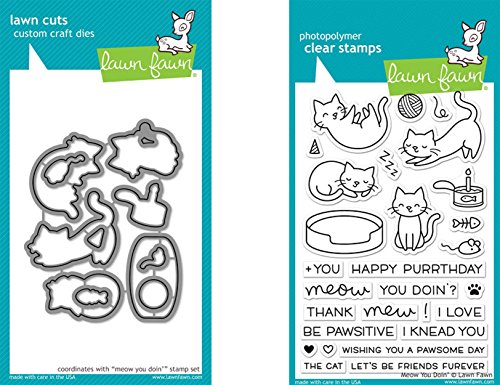 lawn-fawn-meow-you-doin-clear-stamp-and-die-bundle-lf1315-lf1316-set-of-2-items