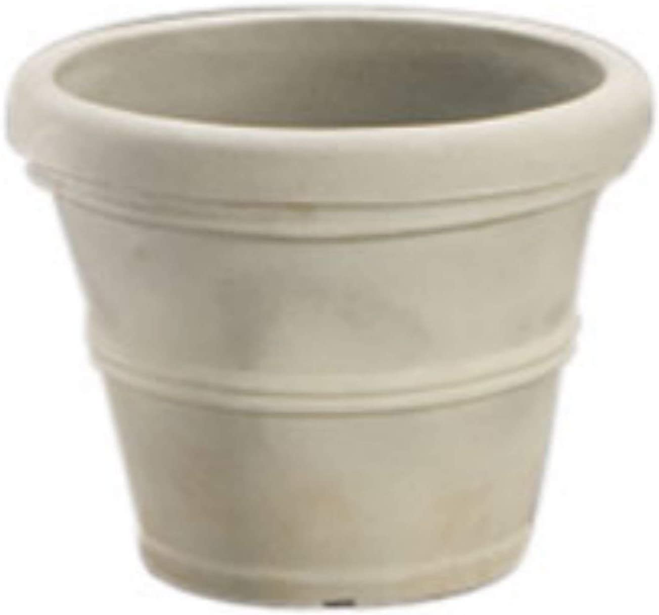 Crescent Garden Brunello Planter, Weathered Concrete, 16-Inch