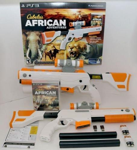 NEW 2-GUN BUNDLE Cabela's African Adventures PS3 Game w/Top Shot Elite Rifle Set