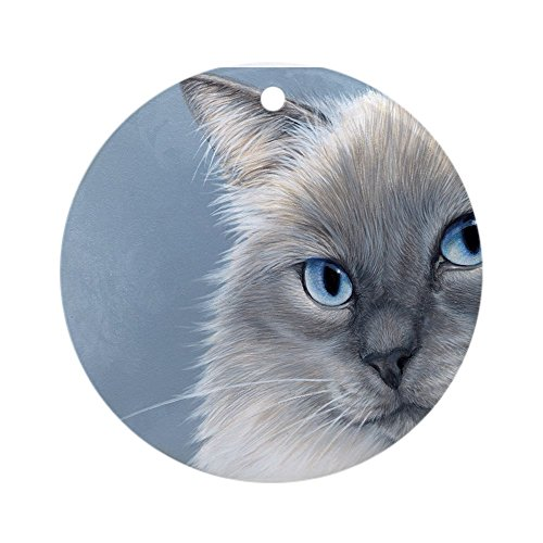 Rag Doll Cat Ornament - CafePress Ragdoll Cats 2 Ornament (Round) Round Holiday Christmas Ornament