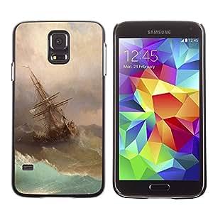 Paccase / SLIM PC / Aliminium Casa Carcasa Funda Case Cover - Storm Painting Sailing Art Waves - Samsung Galaxy S5 SM-G900