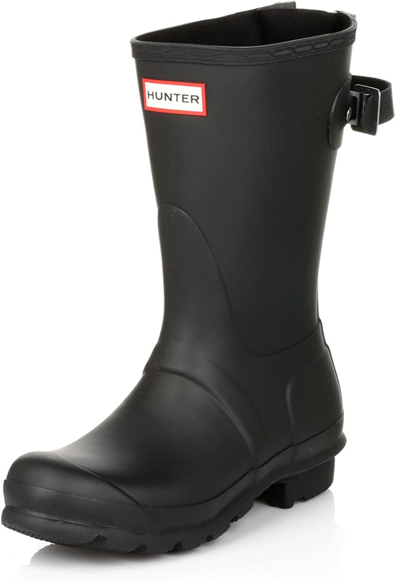 HUNTER Women's Original Short Back Adjustable Rain Boots: Hunter: Shoes