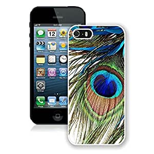 iPhone 5S Case,Peacock Feather White For iPhone 5S Case WANGJING JINDA