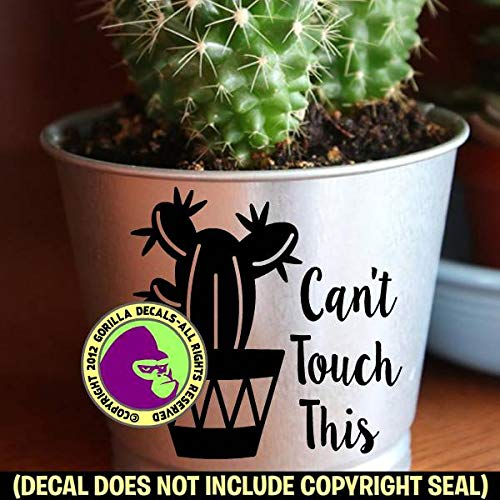 CANT TOUCH THIS Funny Cactus Pot Gardening Succulents Vinyl Decal Sticker B