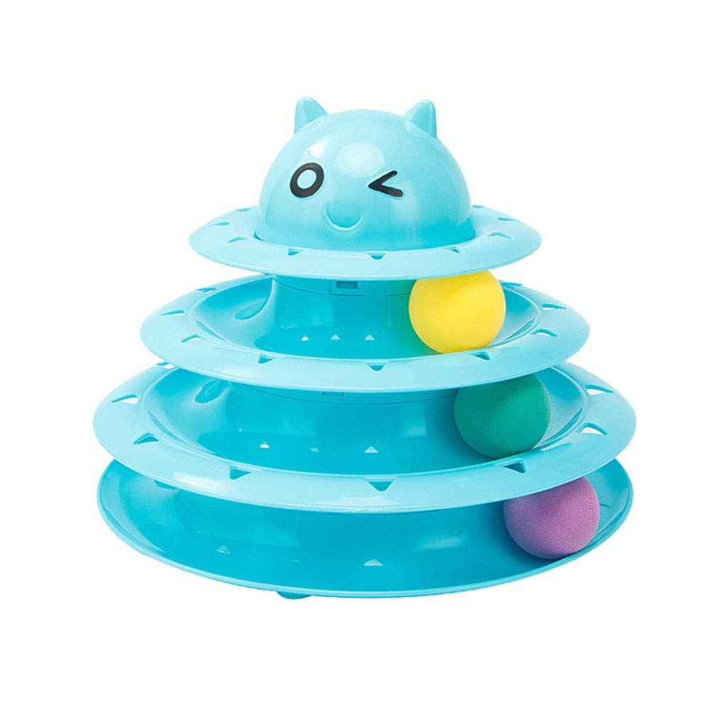 C 24.5cm19.5cm C 24.5cm19.5cm Jia He Pet Stairs Cat Toy Funny Cat Turntable Ball 3 Floors Pet Kitten Supplies Cat Toy Pet Supplies @@ (color   C, Size   24.5cm19.5cm)