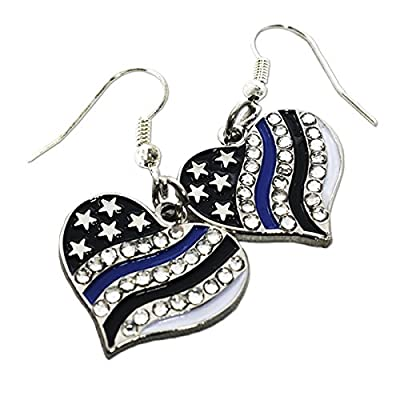 Discount Thin Blue Line Earrings supplier