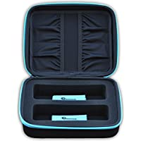 eD ELITE DUAL STORAGE CASE for your active 3D Glasses with 2 Microfiber Cleaning Cloths for 3-D glasses with foldable arms by eDimensional Elite Series