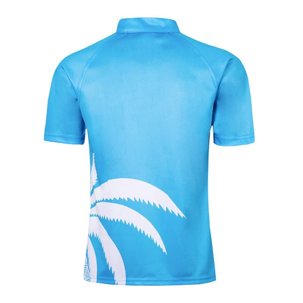 RUBAYSLOV 19 Fiji World Cup Rugby Shirt f/ür den Mann-Bleu