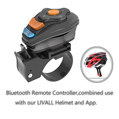 LIVALL® BJ100 Bluetooth Remote Control Controller for Smart Bike Helmet,Controller of Smart Lighting,Music Player,Walkie-Talkie,Photo-taking