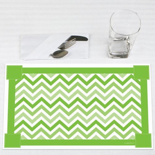Chevron-Green-Party-Placemats-Set-of-12
