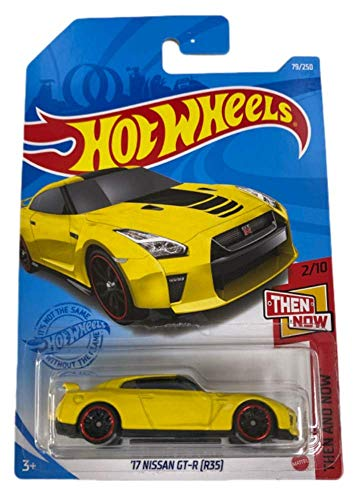DieCast Hotwheels ['17 Nissan GT R], Then and Now 2/10 Ship in Kar Keeper [Yellow]