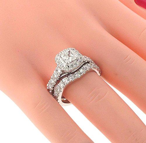 3.00 CT TW Halo Princess Cut Diamond Encrusted Engagement ...