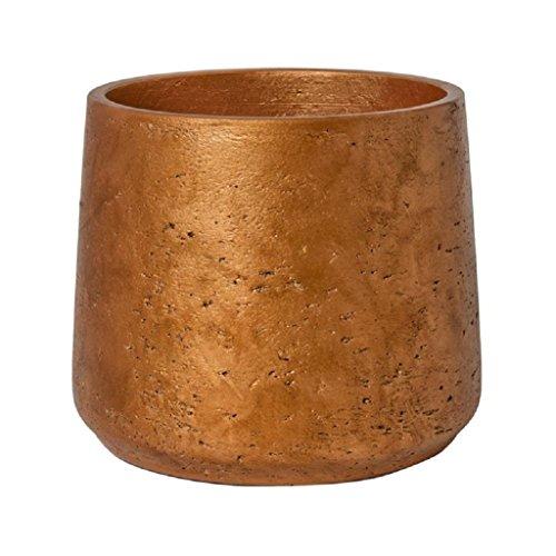 Pottery Pots Metallic Copper Planter Fiberstone Indoor and Outdoor Flower Pot 8