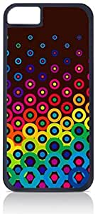 Colorful Retro Polka Dots- Case for the Apple Iphone 6 Plus Only-Hard Black Plastic Outer Shell by mcsharks