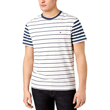 a2c70277 Image Unavailable. Image not available for. Color: Tommy Hilfiger Men's  Suffolk Colorblocked Stripe T-Shirt ...