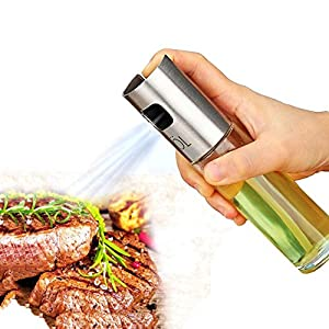 Finduat Olive Oil and Vinegar Sprayer Dispenser for BBQ, Cooking, Vinegar Glass Bottle - Portable Oil Sprayer Oil Mister Kitchen and Grill Cooking Oil Trigger Sprayer Bottle