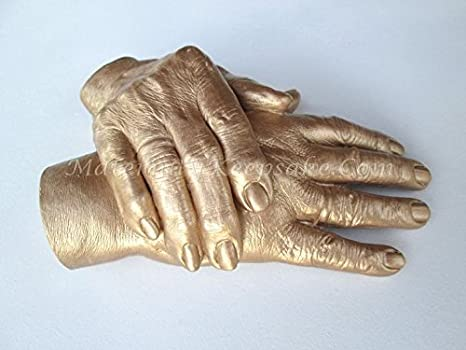 Buy 3D pro imprints for couple hands Gold gift easy Online at Low