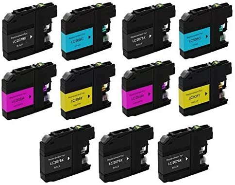 SuppliesMAX Compatible Replacement for Brother DCP-J4120//MFC-J4320//J4420//J4620//J4625DW High Yield Inkjet Combo Pack LC-207XXL5BK2CMY 5-BK//2-C//M//Y