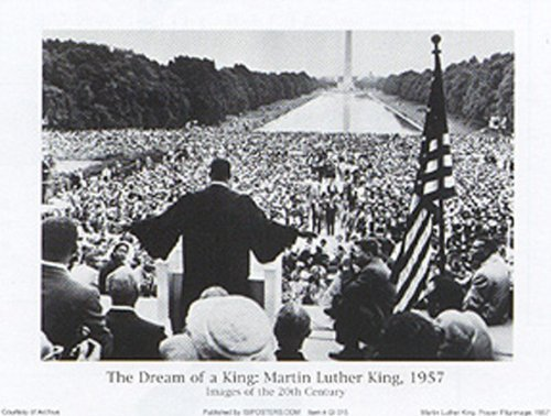 20th Century Posters - Buyartforless The Dream of a King: Martin Luther King, 1957, Images of The 20th Century 32x24 Art Print Poster Vintage Black and White Prayer Pilgrimage Washington DC Civil Rights Movement