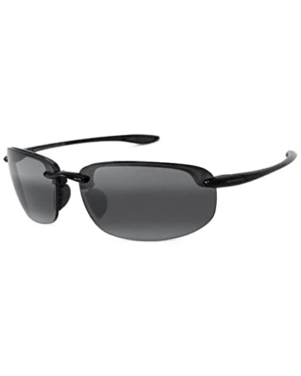 32043d75d99 Maui Jim Sunglasses Hookipa 407-02 Gloss Black Grey Polarized   Amazon.co.uk  Clothing