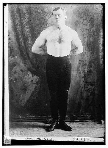 Photo: Carl Nelson, Danish Greco-Roman wrestler, European Welterweight Champion, 1912