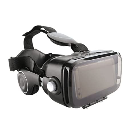 155183343335 Image Unavailable. Image not available for. Color  Brookstone VR Headset  with Built-in Headphones
