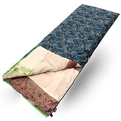 Zhudj Camping Sacs de couchage, sacs de couchage Outdoor, camouflage Impressions, sacs de couchage pour adultes, enveloppes, Ultra léger Sacs de couchage