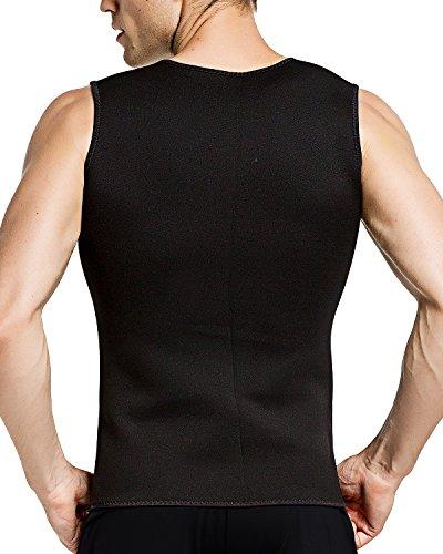 13e02c50de82d Roseate Men s Body Shaper Hot Sweat Workout Tank Top Zip Slimming Neoprene  Weight Loss Vest Tummy