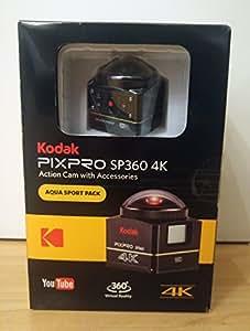 Kodak PIXPRO SP360 4K Aqua - Cámara deportiva (Tarjeta de memoria, CMOS, Ión de litio, 3840 x 2160 Pixeles, JPG, 1280 x 720,1920 x 1080,3840 x 2160 Pixeles) (importado)