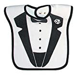Raindrops Tuxedo Jacket Screen Printed Bib, Black