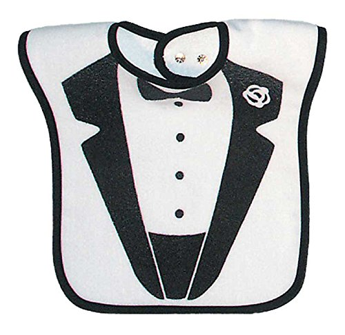 Raindrops Tuxedo Jacket Screen Printed Bib, Black by Raindrops