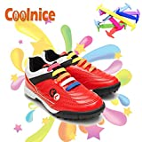 Coolnice® No Tie Shoelaces for Kids funny 12pcs - Environmentally safe silicone - Lazy Shoestrings - Color of Rainbow