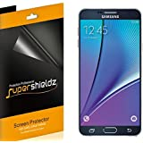 [6-Pack] SUPERSHIELDZ- Anti-Bubble High Definition Clear Screen Protector For Samsung Galaxy Note 5 + Lifetime Replacements Warranty - Retail Packaging