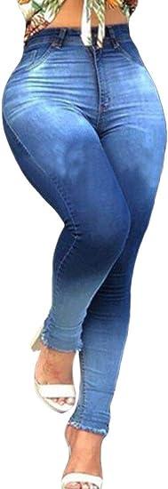 FRPE Womens Vintage Jeans Elastic Waist Jogger Harem Denim Pants