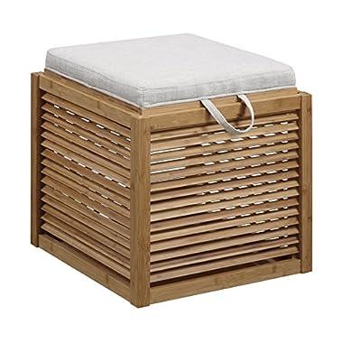 Convenience Concepts Designs4Comfort Bamboo Ottoman, Beige