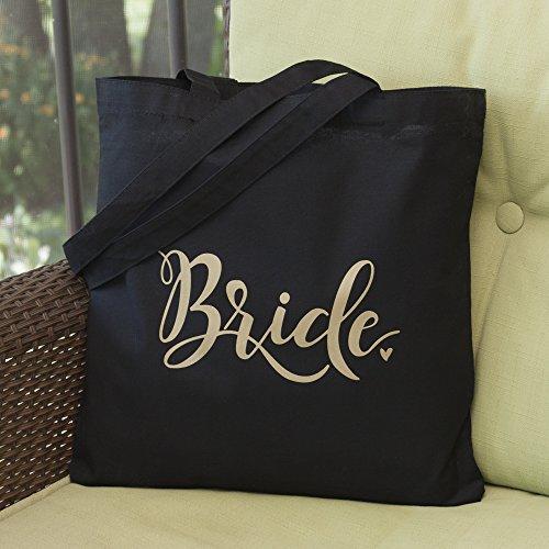 Hortense B. Hewitt 55508 Bride Tote Bag, Black by Hortense B. Hewitt (Image #1)