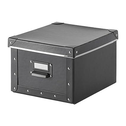 fjalla home office storage box with lid dark gray home office storage boxes1 storage