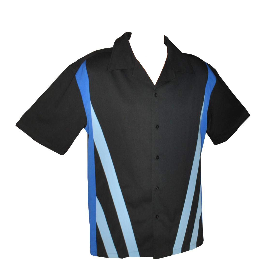 Designs by Attila Mens Leisure Bowling Shirt, 50's Style. Size XLarge by Designs by Attila