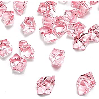 Amazon Com Darice Translucent Clear Pink Assorted Shaped Acrylic Gems For Vase Filler Table