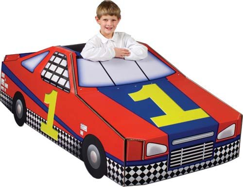 2 ft. 2 in. Speedy Race Car Standee Standup Photo Booth Prop Background Backdrop Party Decoration Decor Scene Setter Cardboard Cutout -