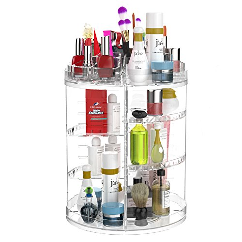 Adjustable 360 degree Rotating makeup tower