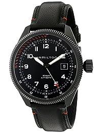 Hamilton Men's H76695733 Khaki Field Analog Display Swiss Automatic Black Watch