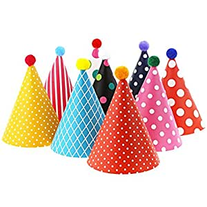 Amazoncom Vesil Kids Birthday Party Hats Assorted Kitchen Dining