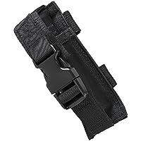 M1Surplus Tactical Molle Style Black Flashlight Belt Holster Pouch Fits Surefire G2X PRO 6P 6PX EB2 P2X UTG VISM Tactical Lights