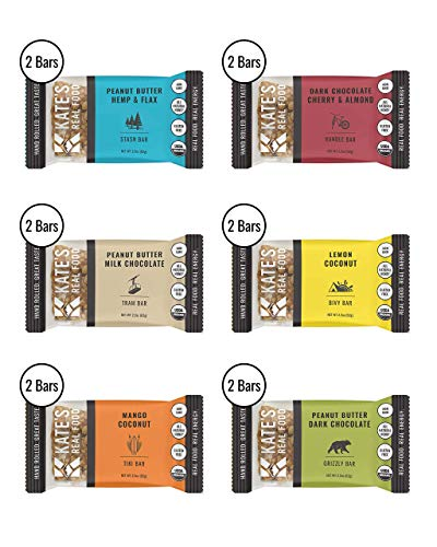 - Kate's Real Food Granola Bars 12 Pack | Variety Pack 2 of Each Flavor | Clean Energy, Organic Ingredients, Gluten Free, Non GMO | All Natural Delicious Health Snack