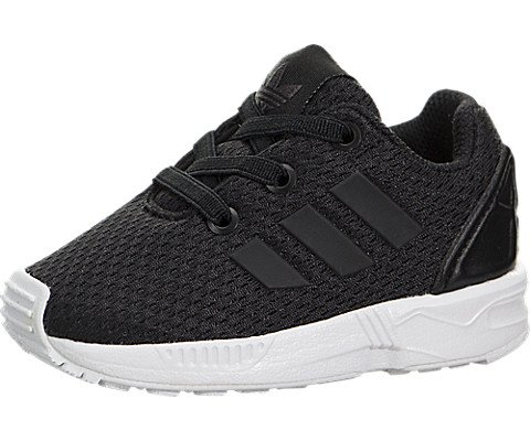 adidas Originals Boys' ZX Flux I Running Shoe, Black/White, 4 Medium US Toddler