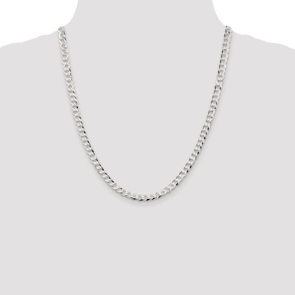 925 Sterling Silver Curb Chain Necklace