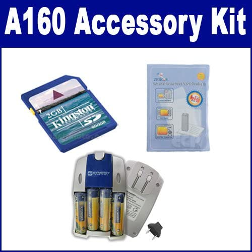 SB257 Charger Fujifilm Finepix A160 Digital Camera Accessory Kit includes ZELCKSG Care /& Cleaning KSD2GB Memory Card